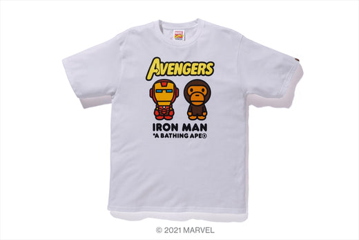 【 BAPE X MARVEL 】MILO IRON MAN TEE