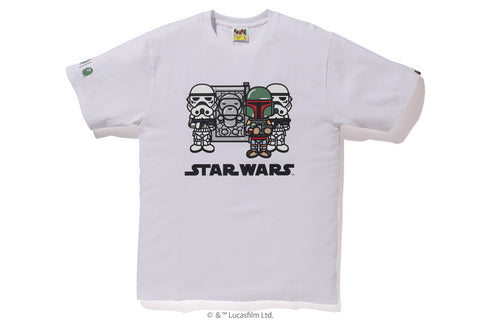 【 BAPE X STAR WARS 】MILO CARBONITE TEE