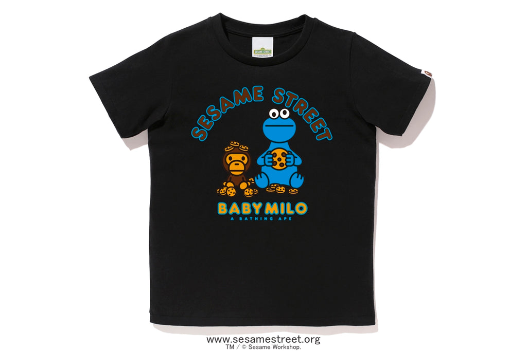 【 BAPE X SESAME STREET 】MILO & COOKIE MONSTER TEE