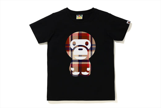 BAPE CHECK BIG BABY MILO TEE