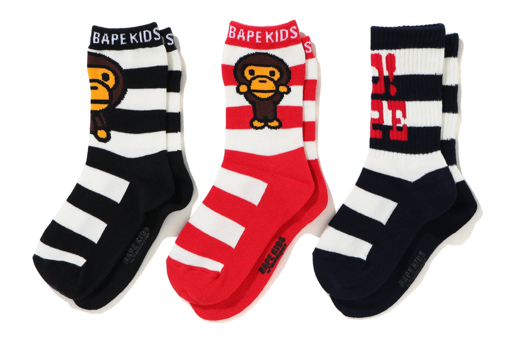 BABY MILO BORDER SOCKS 3P SET