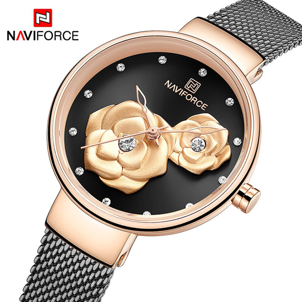 OROLOGIO FASHION CON ROSA IN 3D