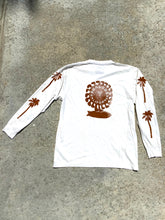 Load image into Gallery viewer, Palm Tree block printed Longsleeve Tee, with Rider Sun logo on back