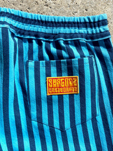 Blue on Blue Unisex Striped Big City Pant
