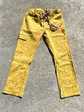 Load image into Gallery viewer, Yellow Gold Flower Pattern Beach Jam Pants, Baja Cruiser Pant.