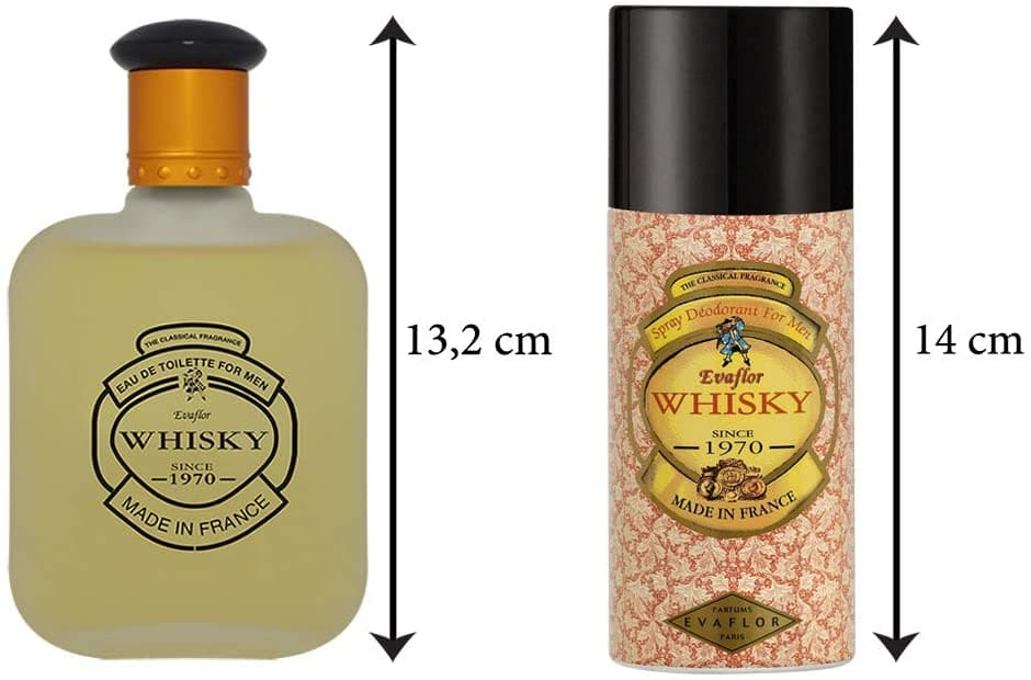 WHISKY FOR MEN • Coffret Eau de Toilette 100 ml et Déodorant 150 ml • Parfum Homme