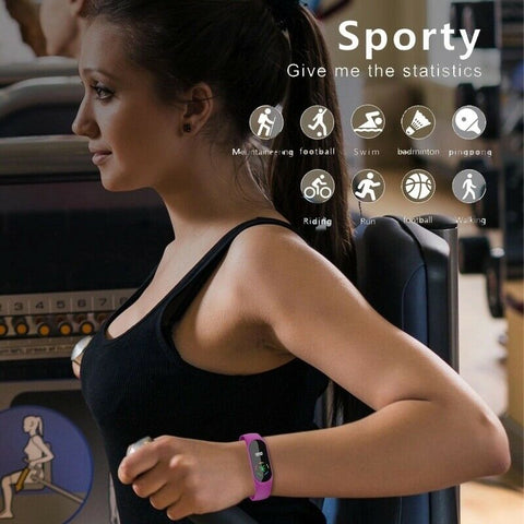 Bluetooth Smart Watch Wristband Fitness Tracker with USB Charger Cube