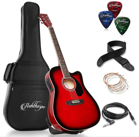 Acoustic-Electric Guitar Full-Size Set with Gig Bag and EQ