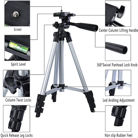 Camera Tripod Stand Portable and Professional with Universal Holder
