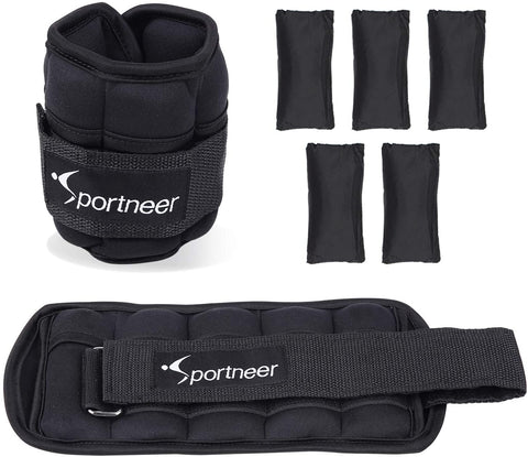 Ankle and Wrist Weights Set Fully Adjustable - 10lbs