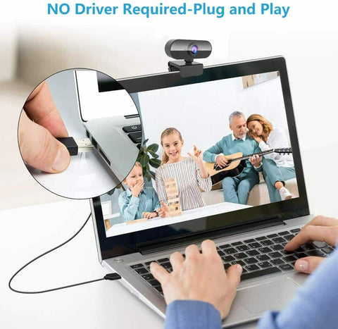 Full HD Streaming Webcam with Microphone for PC Laptop Computer