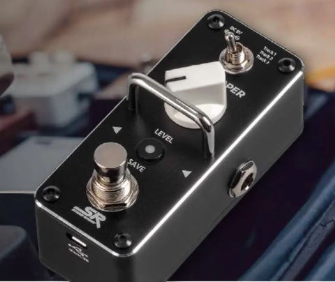 Guitar Pedal Looper with True Bypass and Unlimited Overdub