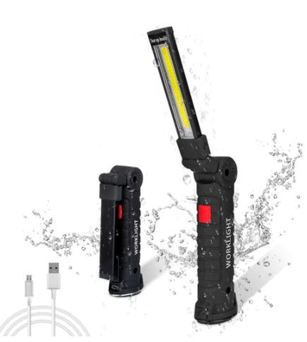 USB Rechargeable Magnetic COB LED Tactical Flashlight 2000 Lumens