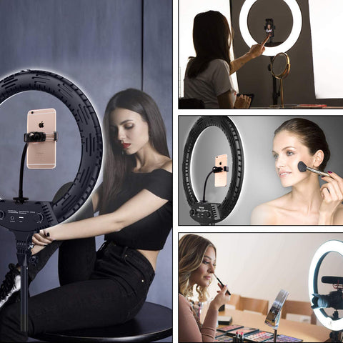 LED Selfie Ring Light with Tripod Stand for Live Stream - 18 inch