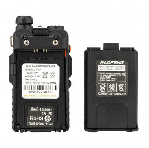 Two-way Radio Transceiver Walkie Talkie with Rechargeable Battery