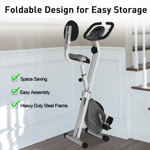 Exercise Bike Stationary and Foldable with Magnetic Resistance