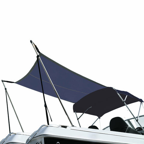 Bimini Extension Kit Airflow Boat Sun Shade with Adjustment Buckles