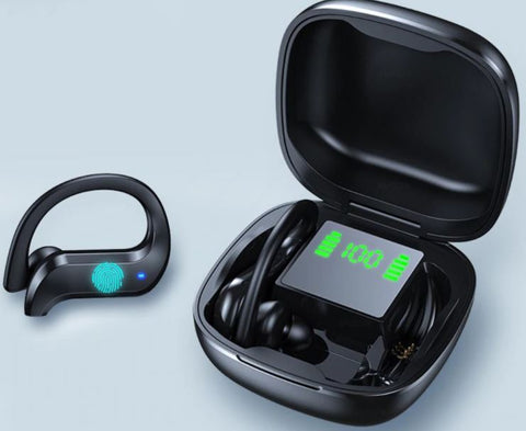 Bluetooth Wireless In-Ear Earphones with Hook and Touch Control