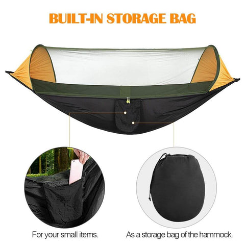 Camping Hammock Portable Tent Bed with Mosquito Net Cover for Outdoor