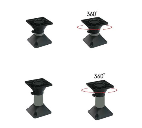 Boat Seat Pedestal Base Mount with Swivel Top