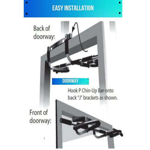 Pull Up Bar Doorway Chin Up Bar Station for Home