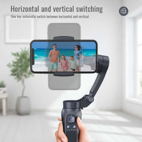 Foldable Handheld Gimbal Stabilizer for Phone Camera - 3 Axis