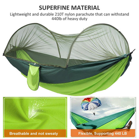 Camping Hammock Travel Portable Pop-Up Tent with Mosquito Net