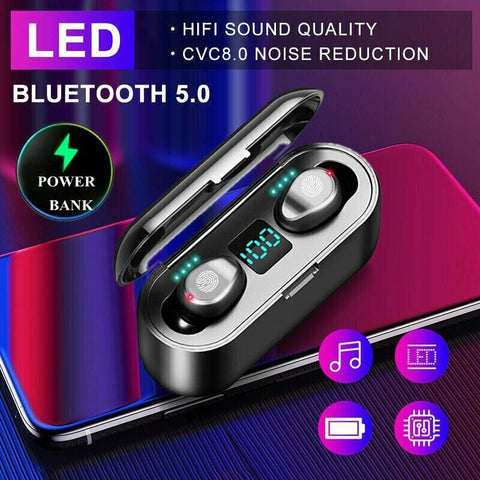 Waterproof Wireless Bluetooth Earbuds with Noise Cancelling