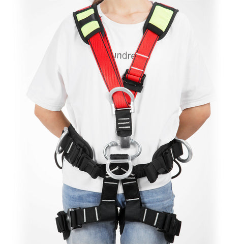 Safety Rock Tree Full Body Climbing Harness Protection Belt