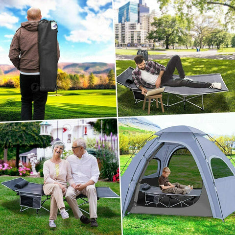 Portable Outdoor Travel Camping Foldable Bed Cot Tent