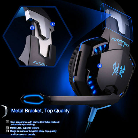 LED Gaming Headset with Mic for PS4/Xbox One/PC