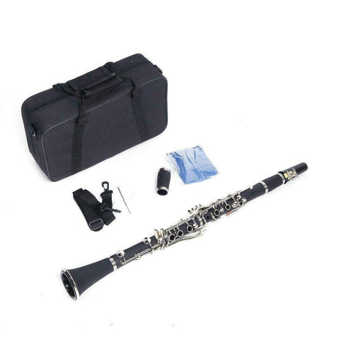 Clarinet B Flat Instrument with Case and Manual Set