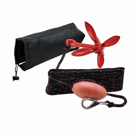 Marine Anchor Kit for Boat Kayak Canoe with Rope and Storage Bag