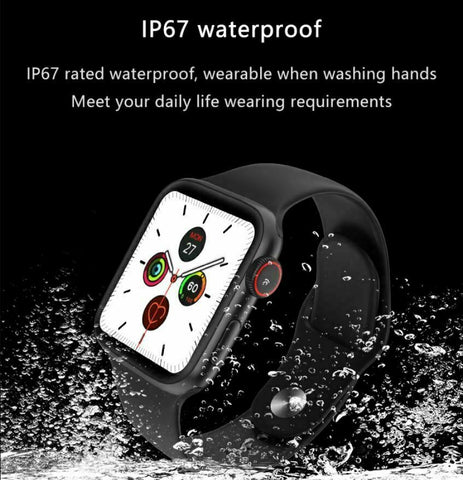 Waterproof Bluetooth Fitness Tracker Smart Watch for iOS or Android