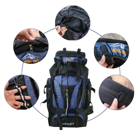 Waterproof Outdoor Tactical Hiking Camping Travel Backpack - 70 L