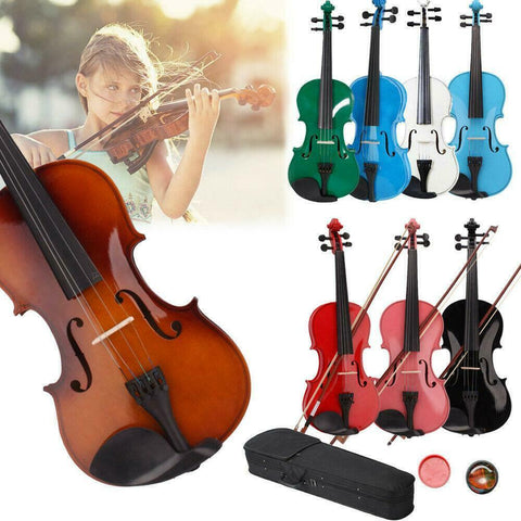 Violin Acoustic Instrument for Beginners with Case Bow and Rosin