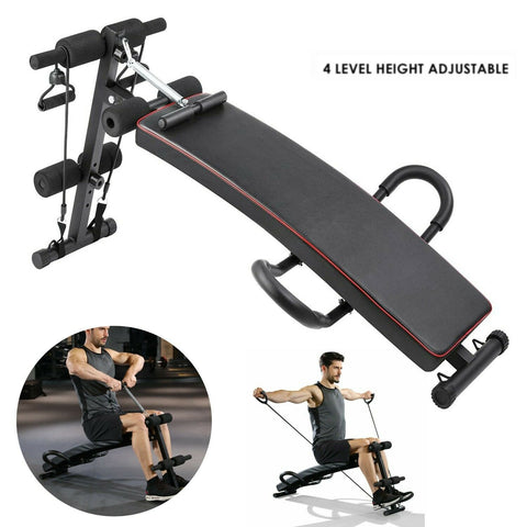 Sit-Up Bench Ab Incline Decline Adjustable Exercise Workout Equipment