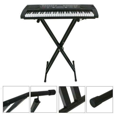 Music Stand Adjustable Dual-Tube X-Shape Keyboard Stand