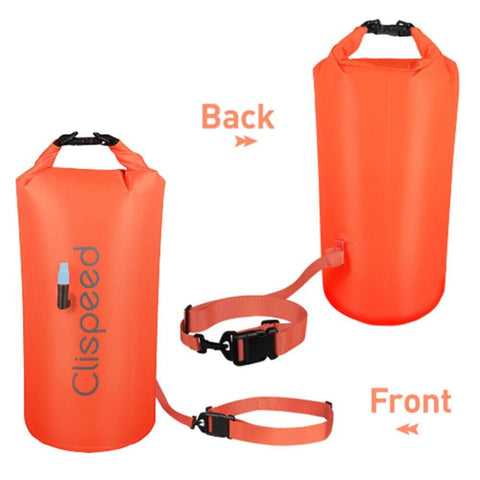 Swim Buoy Pull Open Water Swimming Float Dry Bag with Waist Belt