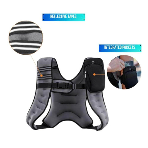 Weighted Vest Clothing for Running Workout Exercise Adjustable