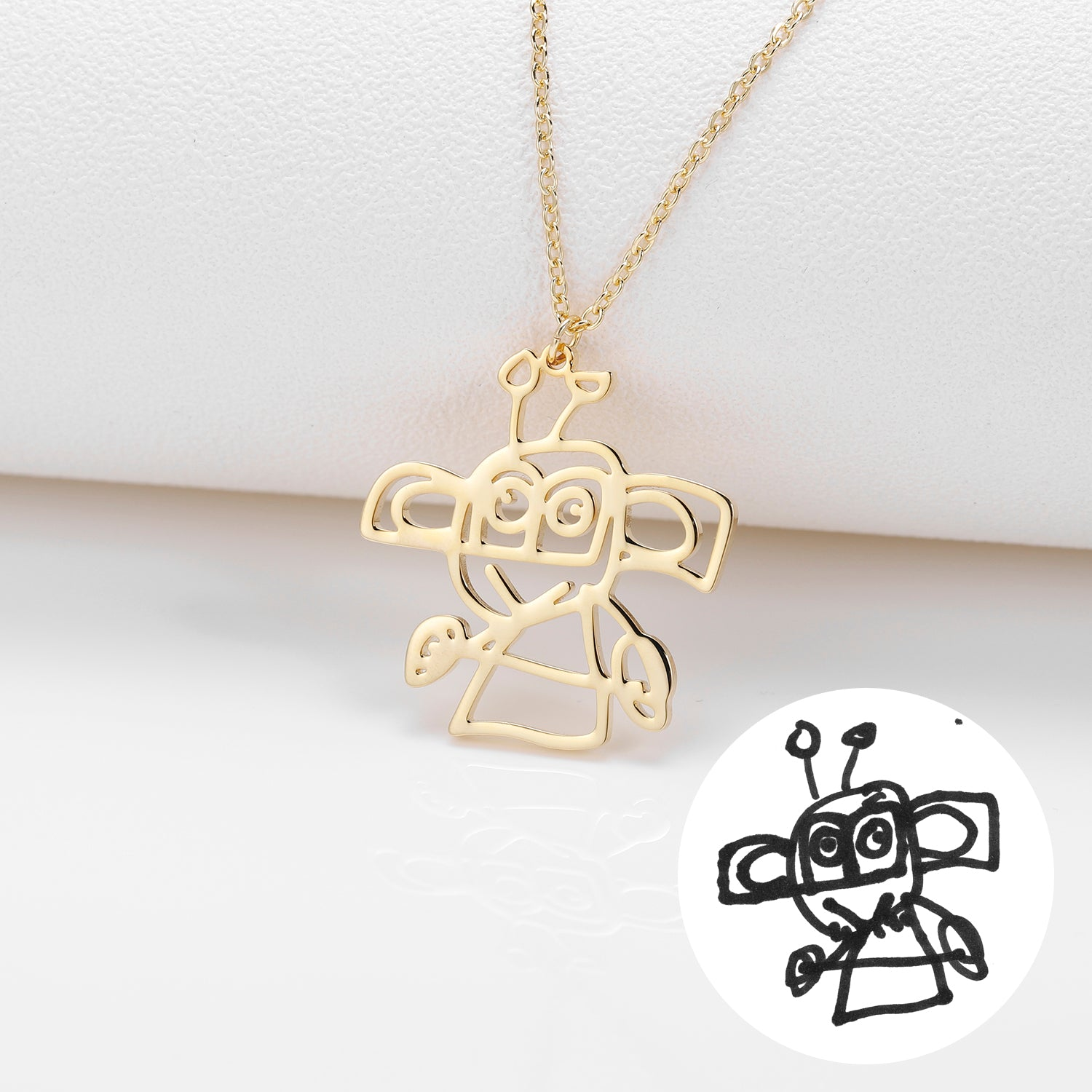 Custom Drawing Necklace