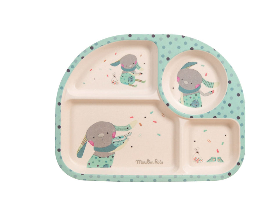 Moulin Roty Plateau Compartment Tray Blue