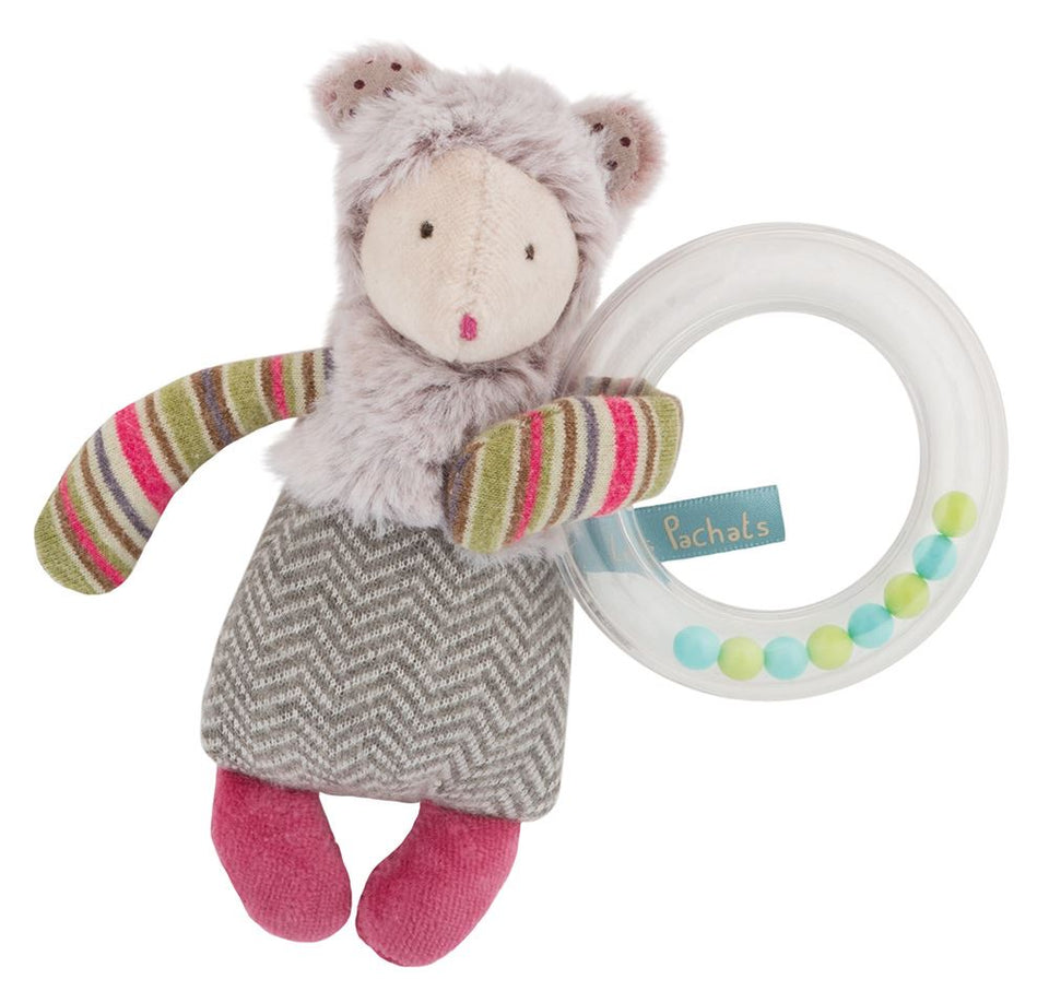 Moulin Roty Les Pachats Mouse ring rattle