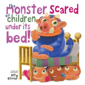 House of Marbles Mini Board Books The Monster Scared of Children Under it's bed