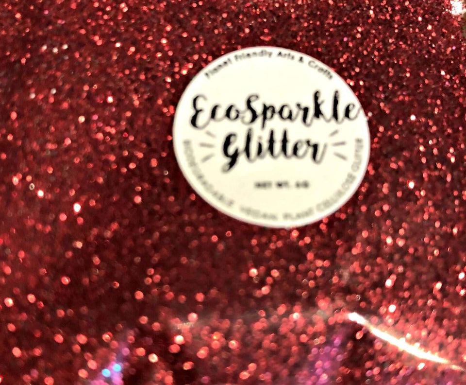 EcoSparkle Biodegradable Glitter Red 6g