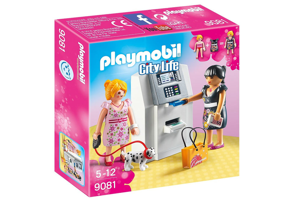 Playmobil 9081 City Life ATM with Functional Cash Serving Mechanism