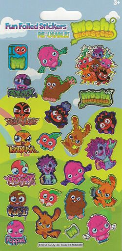 Moshi Monsters Small Foil Stickers