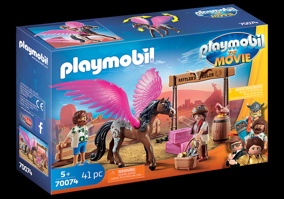 Playmobil Movie Marla and Del with Flying Horse 70074