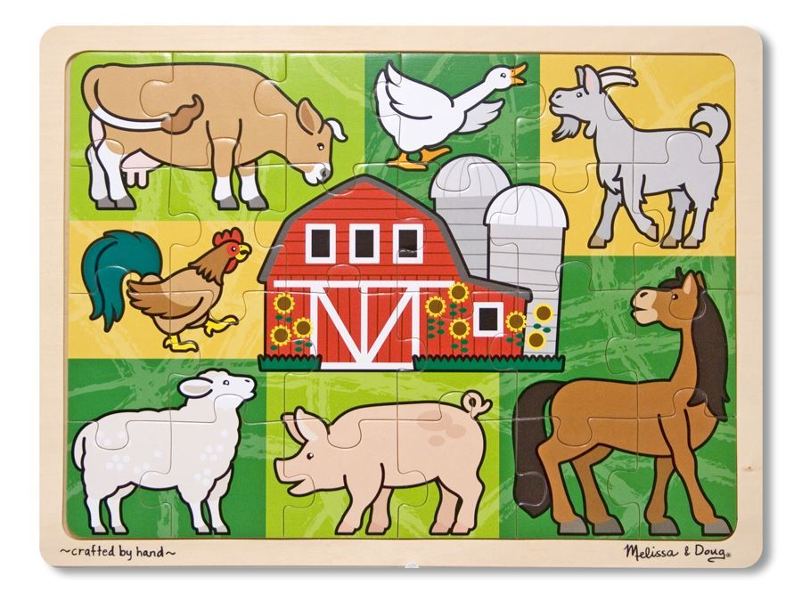 Patchwork Farm Animal Jigsaw 24pc