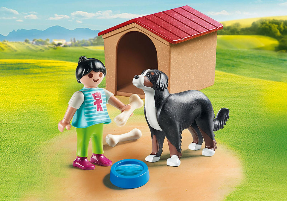 Playmobil 70136 Dog with Kennel
